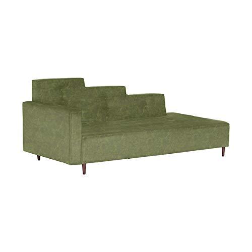 arne ソファ カウチソファ 片肘 寝椅子 2.5人 2.5人掛け ソファー 3人掛け 三人掛け 3人用 三人用 Step W 合皮 合皮オリーブ B07NVS8WYC 合皮オリーブ