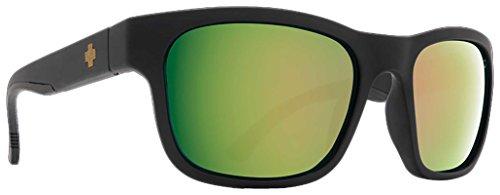 Spy Hunt Sunglasses - Matte Black / Happy Rose Polar with Green - Sunglasses Hunt
