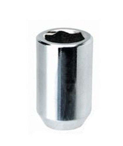 White Knight 2804-4 Chrome Tuner Acorn Lug Nut with Key - 4 Piece ()