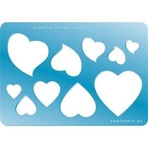 Cool Tools Jewelry Shape Template Hearts