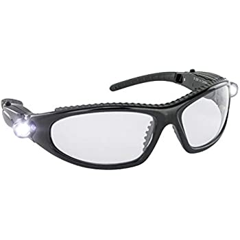 bb6174780a1 SAS Safety 5420-50 LED Inspectors Safety Glasses - Light Safety ...