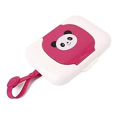 Queta - Caja de pañuelos de plástico para Viaje, portátil, para Guardar toallitas húmedas