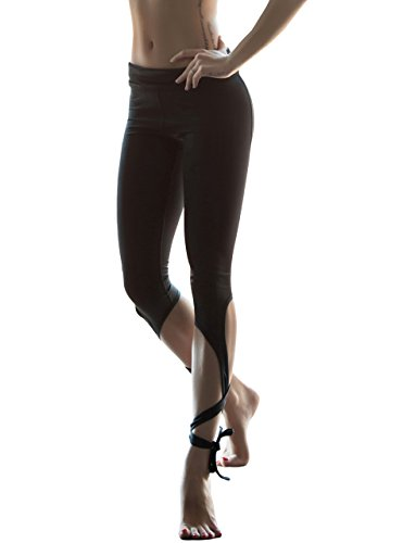Womens Yoga Pants Active Running Workout Fitness Leggings Capri Black Small