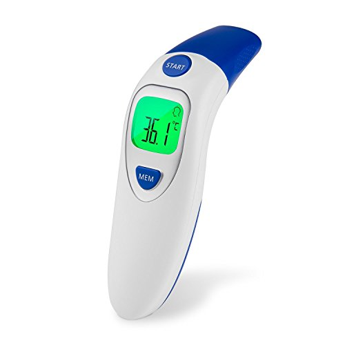 Medical Forehead and Ear Thermometer,Infrared Digital Thermometer Suitable for Baby, Infant, Toddler and Adults with FDA and CE Approved (White) by Meyoung