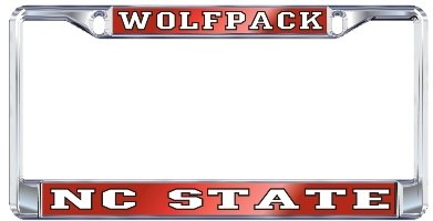 NC STATE Chrome WOLFPACK License Plate Tag Frame ()