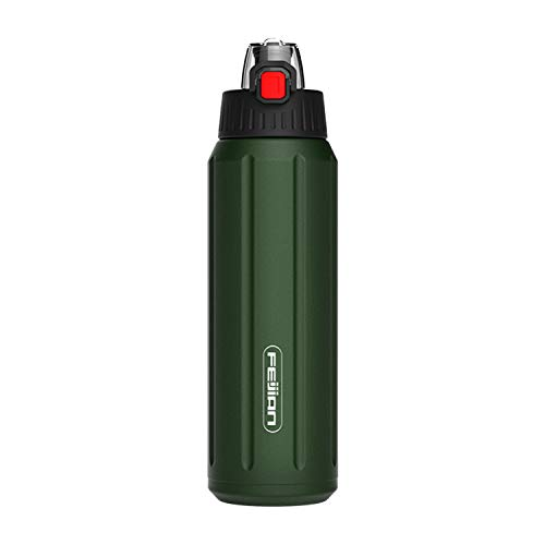 FEIJIAN Thermos 15oz/20oz Shaker Double Wall Vacuum Insulated Stainless Sport Water Bottle BPA Free Cap Travel Drinkware Outdoor Vacuum Flask Travel Mug Travel Tumbler
