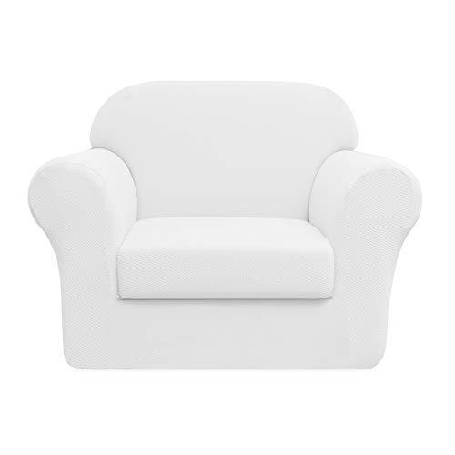DyFun 2-Piece Knit Spandex Stretch Dining Room Sofa Slipcovers (Chair, ()