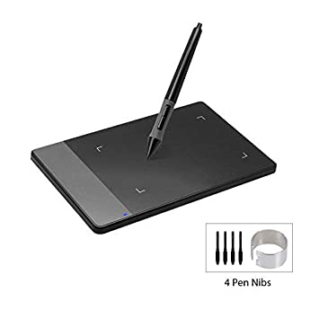 Huion 420 Black 4-by-2 23 Inches Osu! Tablet Graphic Drawing Tablet  Signature Pad for Mac and Windows PC