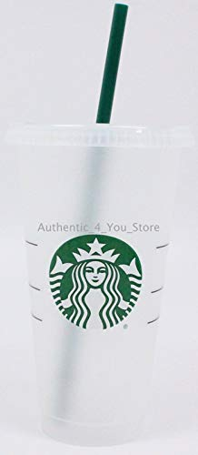 (Starbucks Siren Logo Reusable Plastic Cold Cup, 24 fl oz)