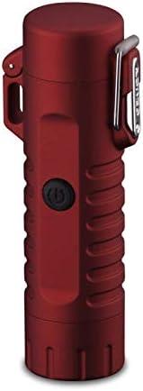 Classicoco Briquet USB /étanche Rechargeable sans Flamme avec Lampe de Poche pour Camping randonn/ée