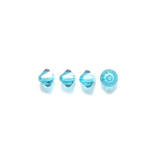 Preciosa 144-Piece Czech Crystal Bicone Beads Set, 5 by 5mm, Indicolite