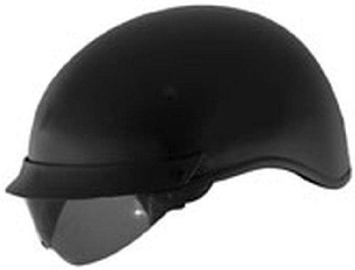 U-72 Cyber Shield Internal - Cyber Helmets Solid with Internal Shield U-72 Open Face Motorcycle Helmet - Matte Black / Large