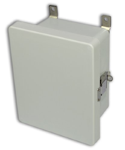 Hinged Vent Panel (Allied Moulded AM1084L AM Series Fiberglass JIC Size Junction Box, Snap Latch and Hinged Cover)
