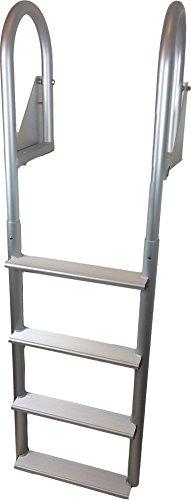 - RecPro Marine 4 Step FLIP UP Boat Dock Swim Ladder W/Quick Release Locks ADL-C4W
