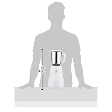 Bajaj Rex Mixer Grinder, 500W, 3 Jars (White) 12