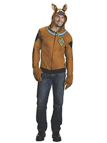 Rubie's Men's Scooby Doo Hoodie, Brown, Large