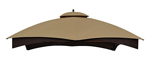 APEX GARDEN Replacement Canopy Top for the Lowe's 10' x 12' Gazebo Model #GF-12S004BTO / GF-12S004B-1