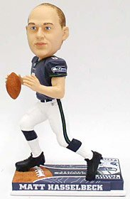 Forever Collectibles NFL Seattle Seahawks Mens Seattle Seahawks Matt Hasselbeck On Field Bobblehead, Team Colors One Size