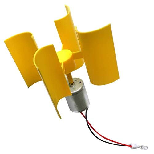 DC 0.1V-5.5V 100-6000RPM Micro Vertical Wind Turbines, Small Motor Blades Generator for DIY