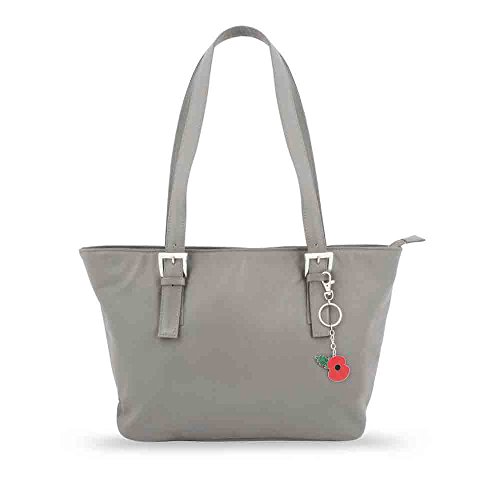 Grey Leather Bag Leather Tote Grey rrxvqwOU