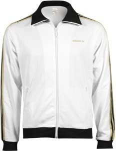 adidas Beckenbauer TT Jacke XL WhiteBlack Gold: