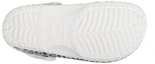 Crocs Donna Gallone Drew Illustrato Classiche Barrymore Bianco Zoccoli Nero da qqU1pw