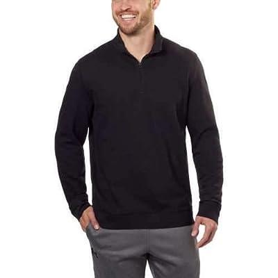 Calvin Klein Mens ¼ Zip Pullover, Black