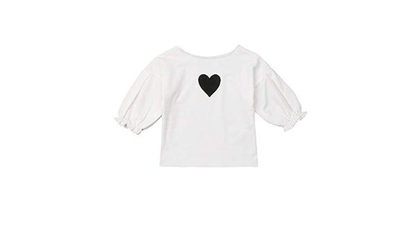 Camiseta Manga Larga de Bebé Niña Pequeña Tops Blusa de ...