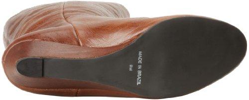 Steve Madden Intyce - Botas de cuero para mujer marrón marrón rojo - marrón