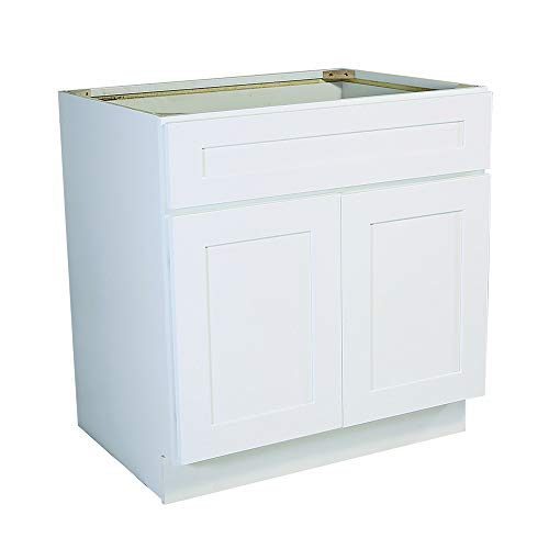 Design House 561498 Brookings 36-Inch Sink Base Cabinet, White Shaker