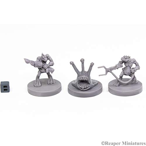 Reaper Miniatures: 49003 - Sliggs and Squarg Bones Black Science Fiction Miniatures