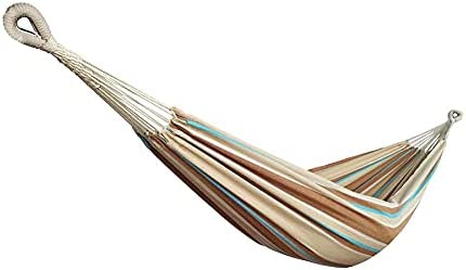 Bliss Hammocks BH-400-HA Hammock in a Bag, Cotton, Portable, Supports up to 220-Pounds for Camping, Hiking and Outdoors, Hampton Stripe