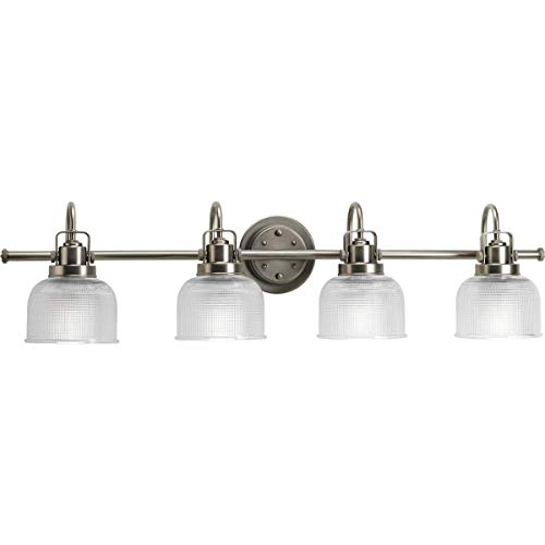 (Progress Lighting P2997-81 Archie Collection Four-Light Bath & Vanity, Antique Nickel)