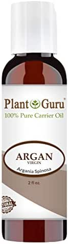 Argan Oil 2 oz Morocco Virgin, Cold Pressed 100% Pure Natural Carrier - Skin, Scalp, Face, Body, Eyebrows, Eyelashes, Hair Growth Moisturizer, Heat Protection. Great for Creams, Lotions, Lip Balm