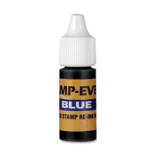U.S. Stamp & Sign 5029 Refill Ink, f/Pre-Inked Stamp, 7 ml, Plastic Bottle, Blue