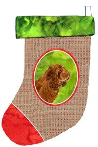 Caroline's Treasures SS2072-CS Sussex Spaniel Christmas Stocking SS2072, Multicolor 1