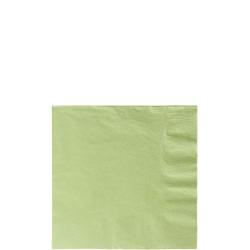 (Big Party Pack Leaf Green Beverage Napkins | Pack of 125 | Party Supply)