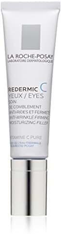 La Roche-Posay Redermic C Eyes Anti-Wrinkle Firming Eye Cream with Vitamin C and Hyaluronic Acid, 0.5 Fl. Oz.