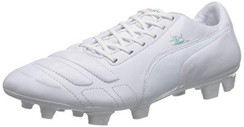 1 Green Shoe Leather PUMA Soccer Mens Ground White Pool Firm Evopower wZxEqvU
