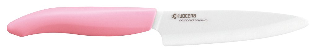 Kyocera Advanced ceramic Revolution Series 4.5'' Utility Knife with Handle & White Blade, Pink