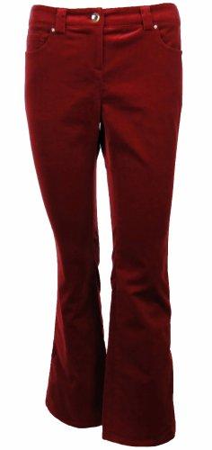 Sutton Studio Women's Bootcut Velvet Jeans Misses (14, Chili) - Velvet Bootcut Pant