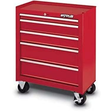 Waterloo Shop Series 26 in. Red 5 Drawer Cabinet - 14D in.