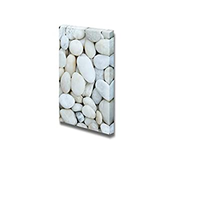 Canvas Prints Wall Art - White Stones | Modern Wall Decor/Home Decoration Stretched Gallery Canvas Wrap Giclee Print & Ready to Hang - 24