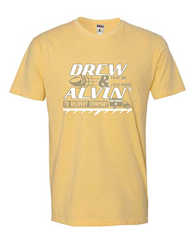 Small Banana Cream Adult Drew & Alvin TD Delivery Company Deluxe T-Shirt