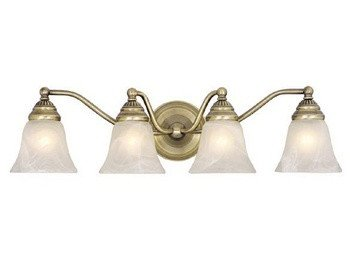 Vaxcel VL35124A Standford 4 Light Vanity Light in Antique (Standford 4 Light)