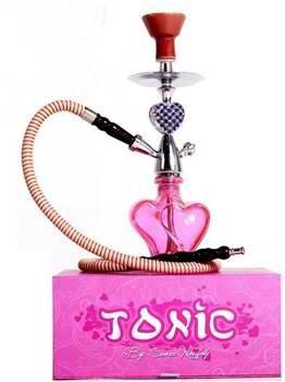Tonic Heart Hookah Pink Rhinestones