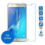 M.G.R.J ( Samsung Galaxy J2 Ace / Samsung Galaxy J2 Prime ) Tempered Glass Screen Protector With 2.5D Round Edge, Crystal Clear & Alcohol Wet And Dry Cloth Pad
