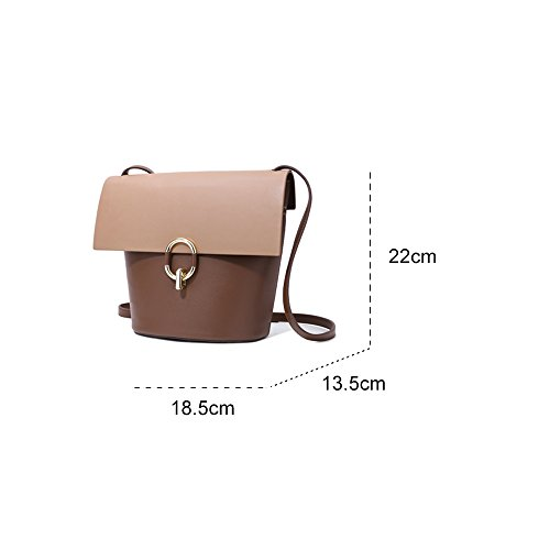 Bag Bag Bucket GAOYANG Female Stitching Bag Shoulder Messenger Hijab qxFqECn0Bt