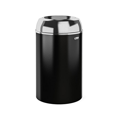 Suncast Commercial MTCIND3002 Indoor Decorative Trash Can, Aluminum - 30 Gallon Trash Can Decorative
