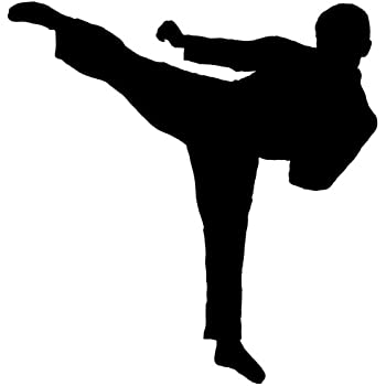 Martial Arts Wall Decal Sticker 15 - Decal Stickers and Mural for Kids Boys Girls Room and Bedroom. Karate Sport Wall Art for Home Decor and Decoration - Martial Art Kung Fu Taekwondo Silhouette Mural